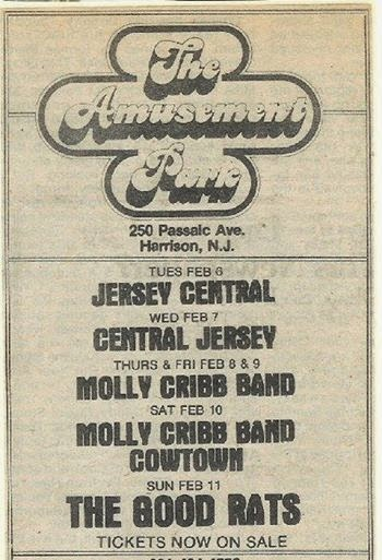 The Amusement Park rock club band ad