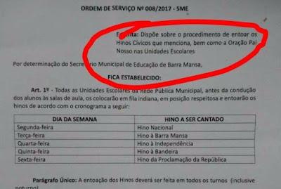 Justiça suspende obrigatoriedade do Pai Nosso nas escolas de Barra Mansa