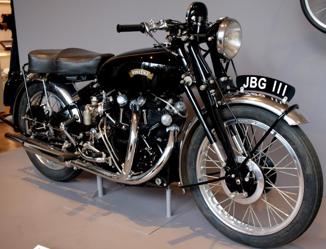 Vincent Rapide 1950s British classic motorcycle