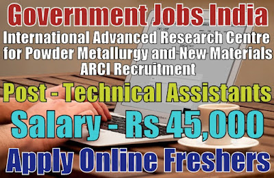 ARCI Recruitment 2019