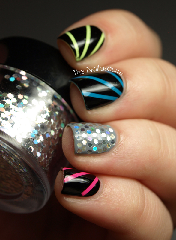 Disco Nails With Glequins The Nailasaurus Uk Nail Art Blog