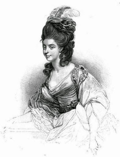 Georgiana, Duchess of Devonshire  from Posthumous memoirs of his own time  by NW Wraxall (1836)