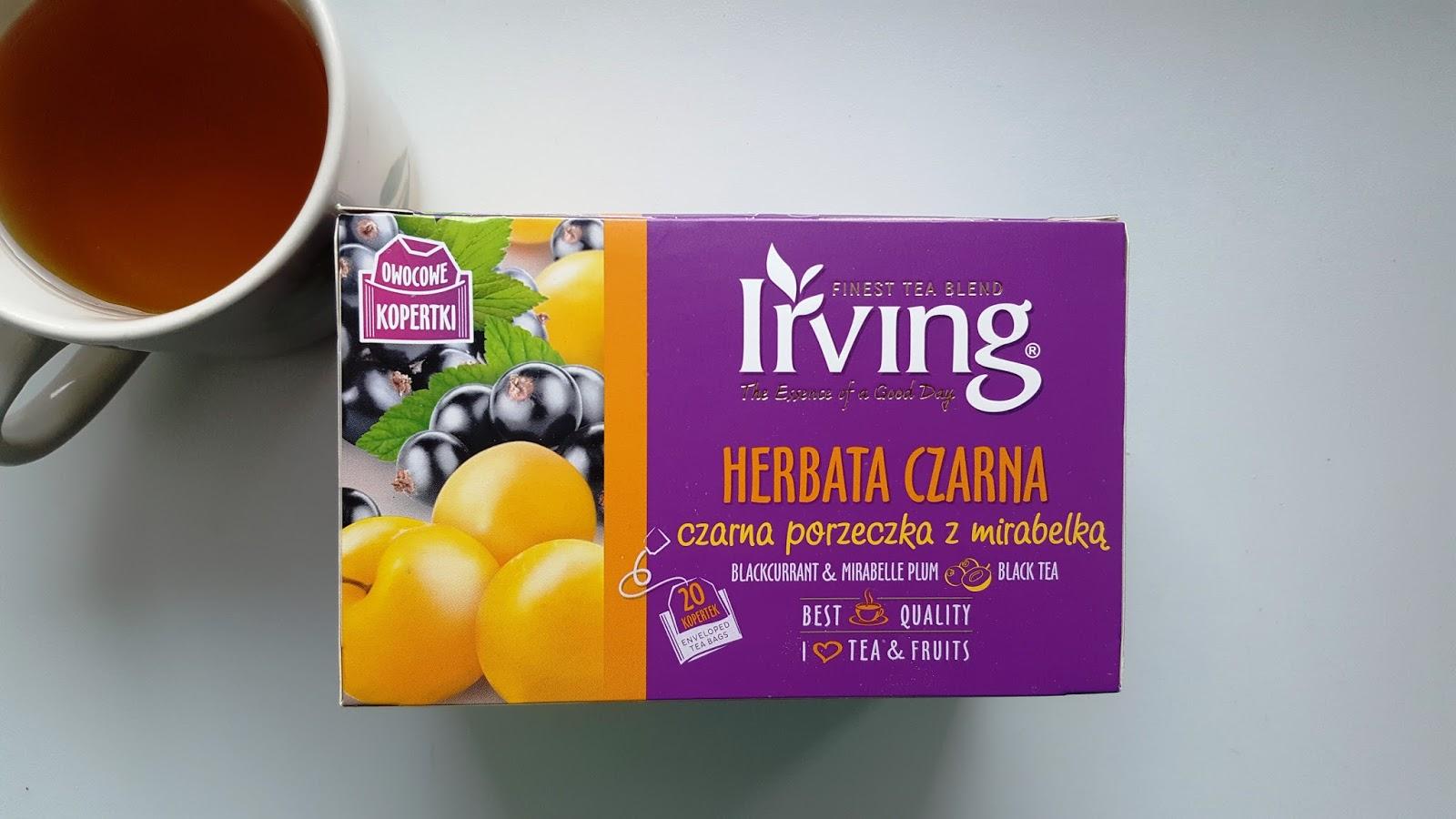 Herbata z czarna porzeczka i mirabelką