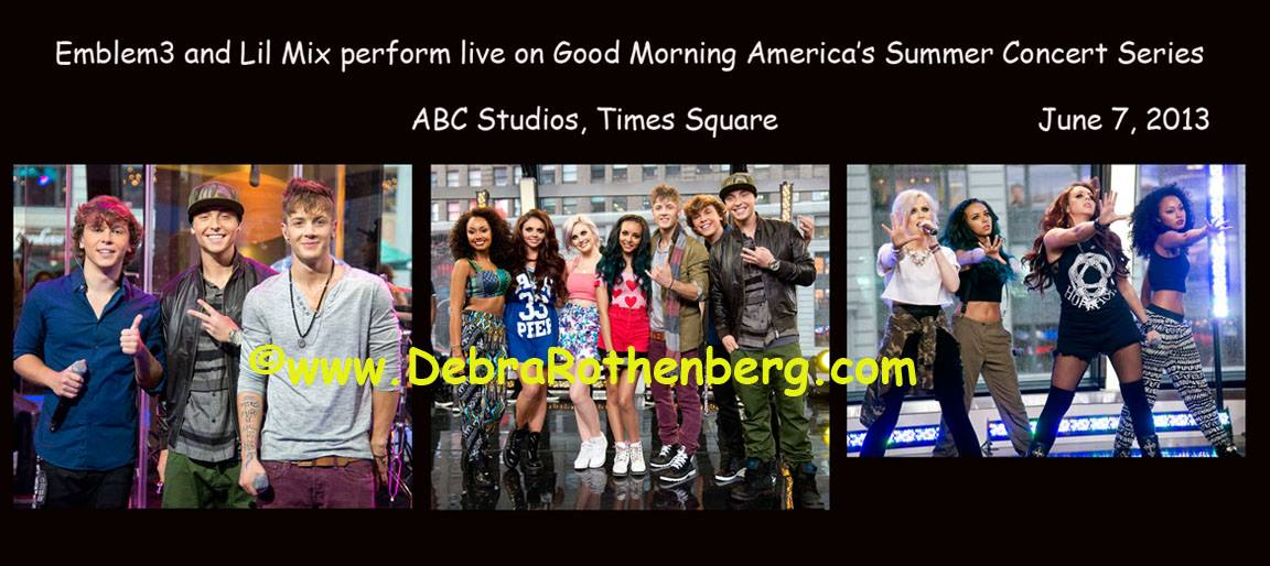 Emblem3 And Lil Mix Played Inside The Good Morning America