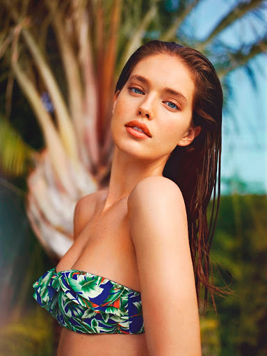 Emily Didonato for Oysho bikini swimwear models photoshoot