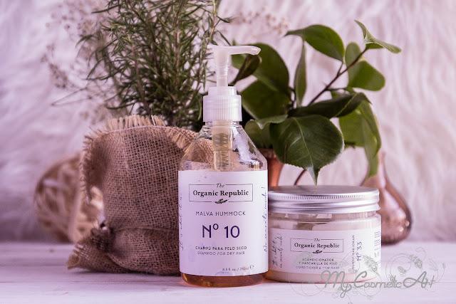 The Organic Republic: champú para cabello seco y mascarilla-acondicionador.