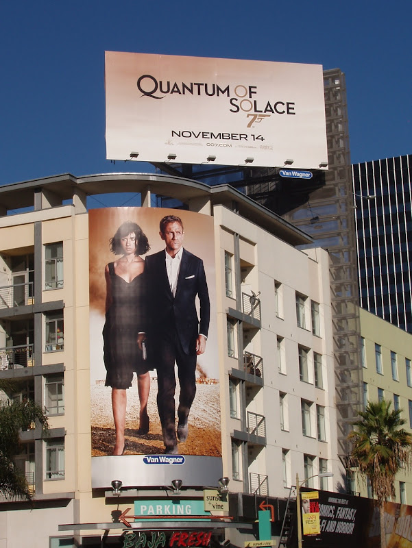Quantum of Solace 007 billboards