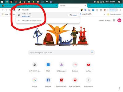 Google Chrome ব্রাউজার দিয়ে এক্সেস করুন আপনার কম্পিউটার এর ফাইল এক্সপ্লোরার  ।