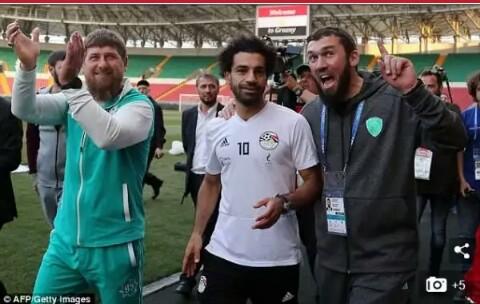 Mou sallah and kadyrov