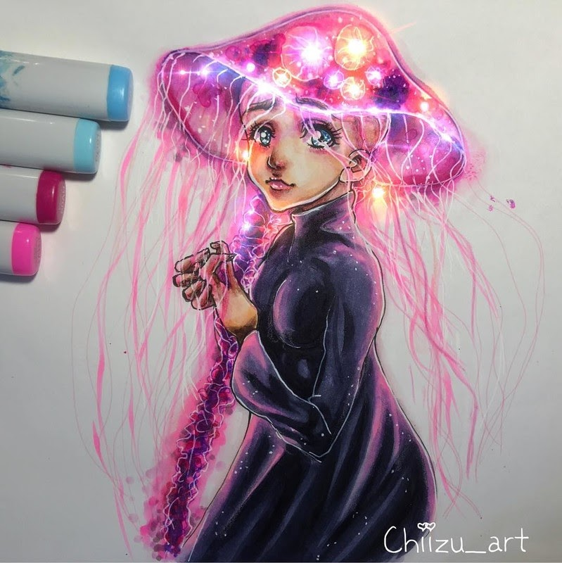 13-Safety-chiizu-art-Drawing-Dark-Subjects-Bursting-with-Color-www-designstack-co