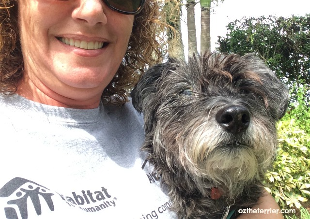 oz with mom selfie in the park