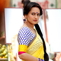 Sonakshi pics from dabangg 2 in saree