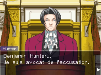 Miles Edgeworth Benjamin Hunter Phoenix Wright Ace Attorney French version translation localisation language