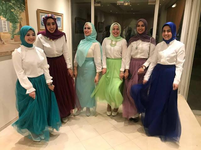 بعض من متسابقات ملكة الحجاب لعام 2017