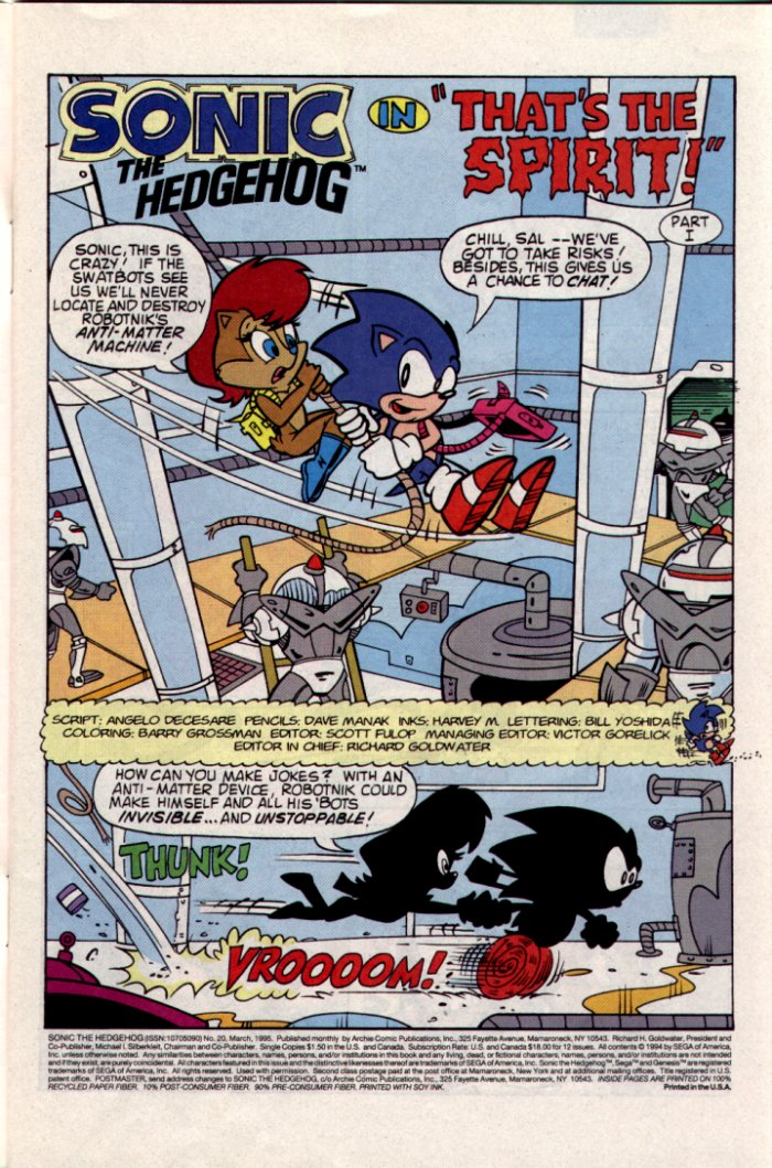 Read online Sonic The Hedgehog comic -  Issue #20 - 2