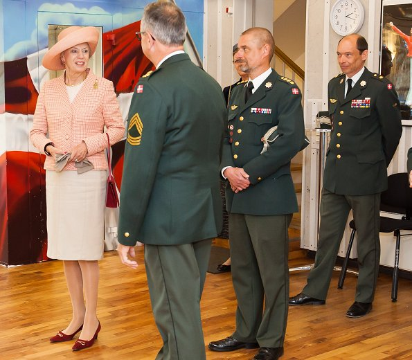 On the occasion of her 75th birthday, Princess Benedikte of Denmark visited The Danish Defence Command on Holmens Kanal