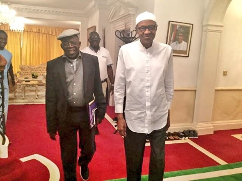 Amid Controversies, Buhari and Tinubu Spotted Exchanging ...