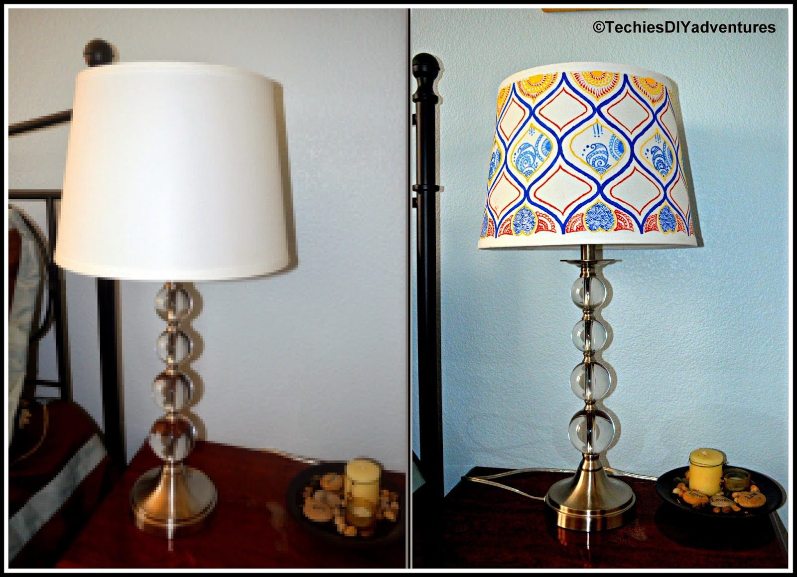 Lampshade Makeover - Techie's DIY Adventures