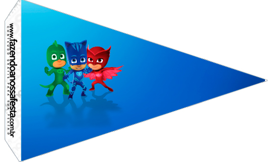 PJ Masks Banner Bunting Flags Children/'s Birthday Party Decoration