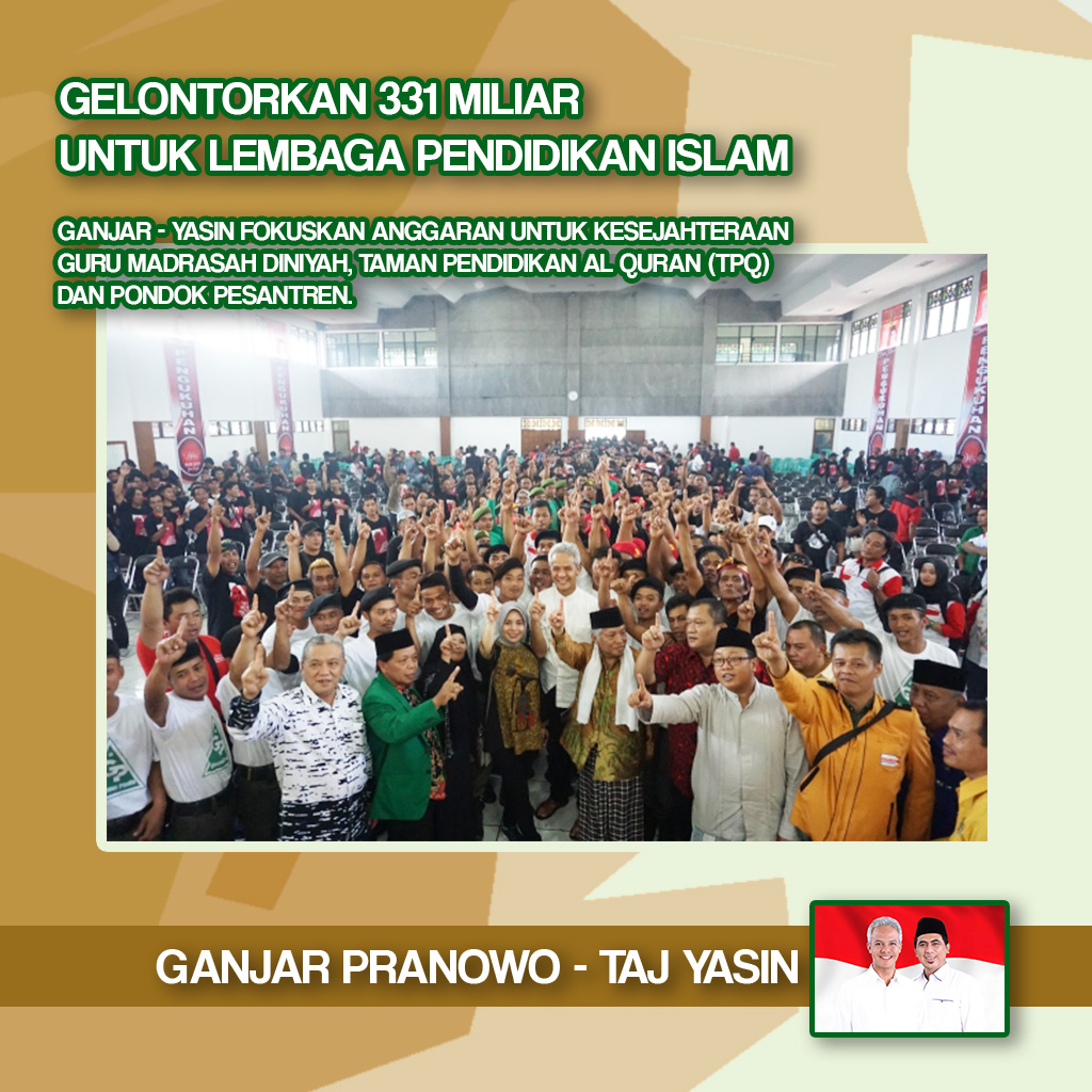 Gelontarkan 331 Miliar Untuk Lembaga Pendidikan Islam