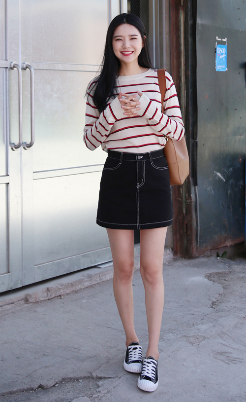 Knit Shadowed Stripe Sweater