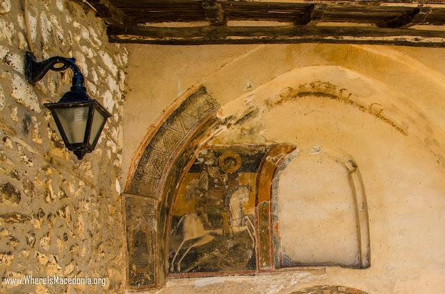 Fresco - Slepče Monastery - St. John the Forerunner near village Slepče, Demir Hisar
