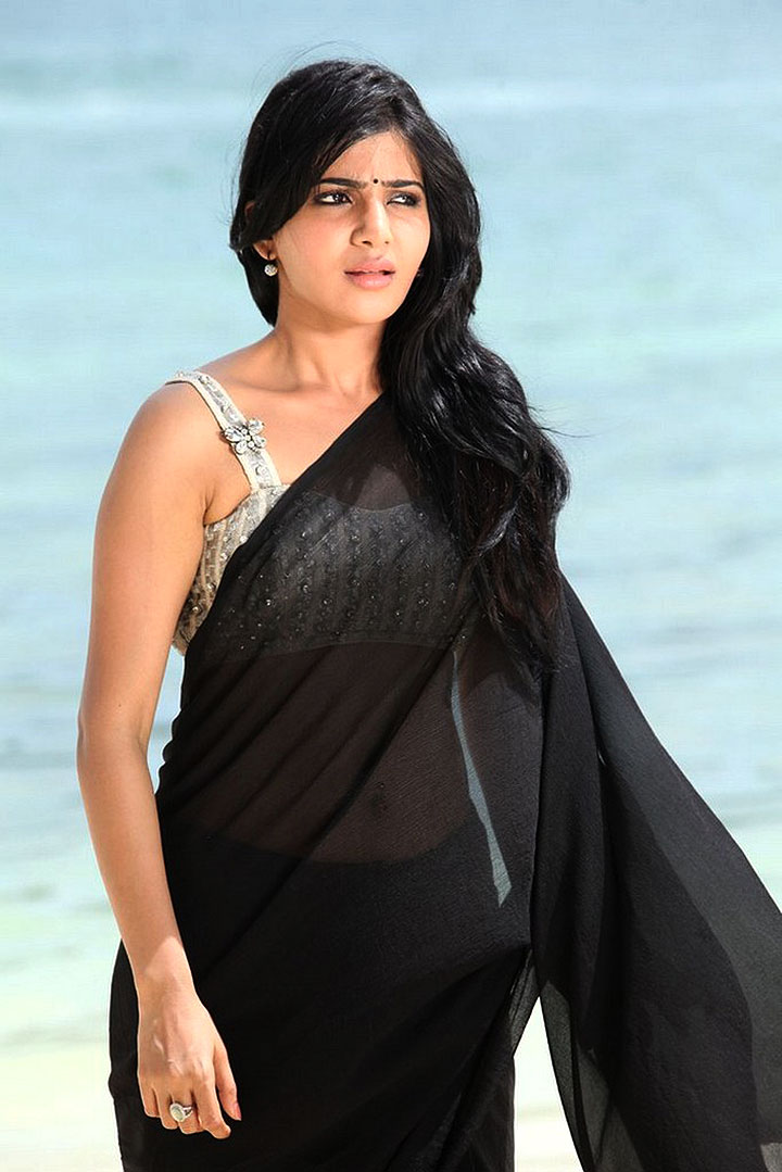 Samantha Ruth Prabhu Hot Photos In Black Saree