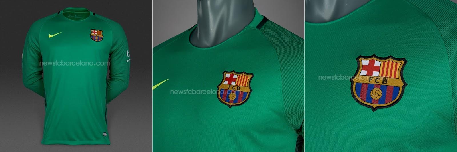 b631b338efa1d Assim serão as camisas do Barça de goleiro