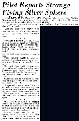 Pilot Reports Strange Flying Silver Sphere - The Honolulu Advertiser 12-30-1949