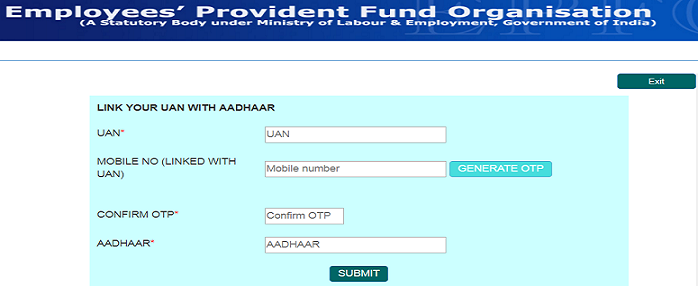 How to link Aadhaar to EPF (UAN) account online without login?