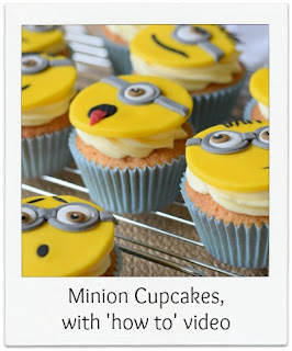 Let your imagination go wild when making these fun Minion themed cupcakes!  They're easy to make, requiring no sculpting or hand shaping and are perfect for a child's party or charity bake sale.