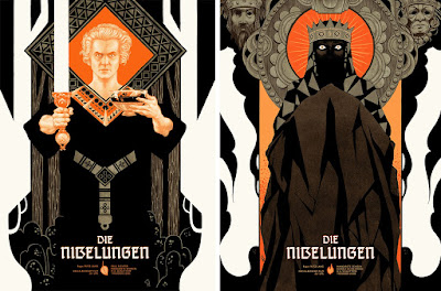 Die Nibelungen Movie Poster Screen Prints by Peter Diamond x Mondo x Black Dragon Press - Die Nibelungen Siegfried & Die Nibelungen Kriemhild's Revenge