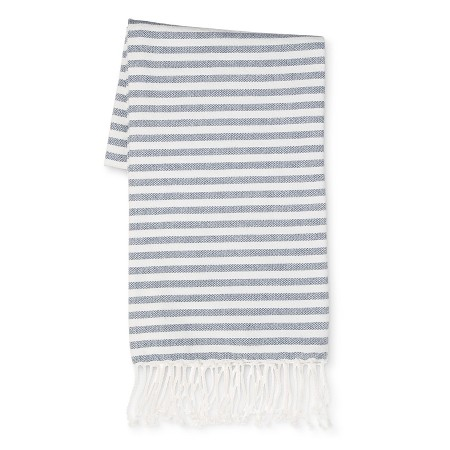 White and blue throw blanket for spring