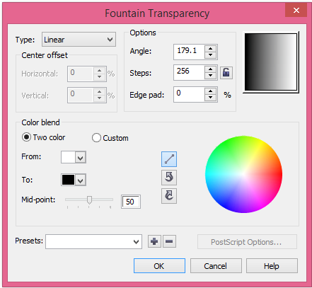 Công Cụ Interactive Transparency Tool Trong Corel Draw