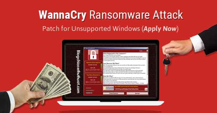 Hướng dẫn gỡ bỏ khắc phục và hạn chế của Ransomware WannaCry