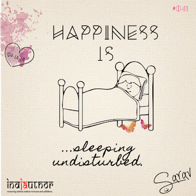 Happiness is sleeping undisturbed!