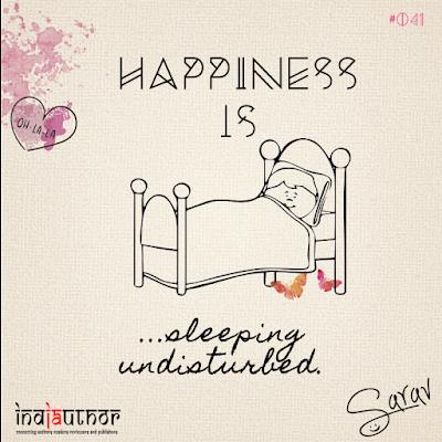 Happiness is sleeping undisturbed!