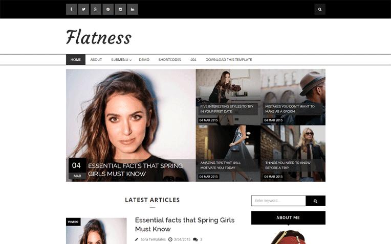 Flatness Free Blogger Template
