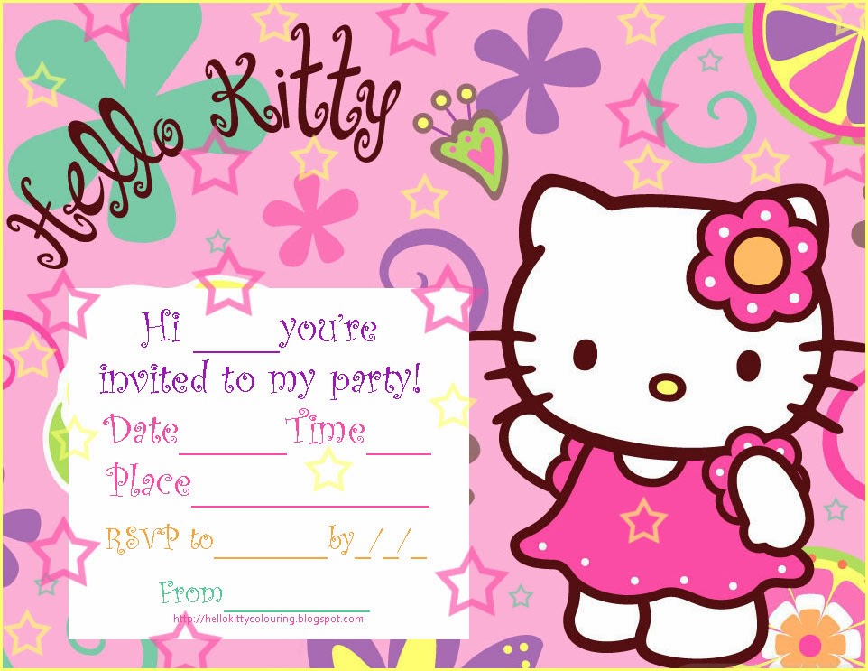 Hello Kitty Birthday Invitations Free Under Fontanacountryinn Com