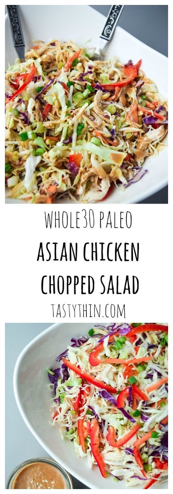 Asian Chicken Chopped Salad (Whole30 Paleo)
