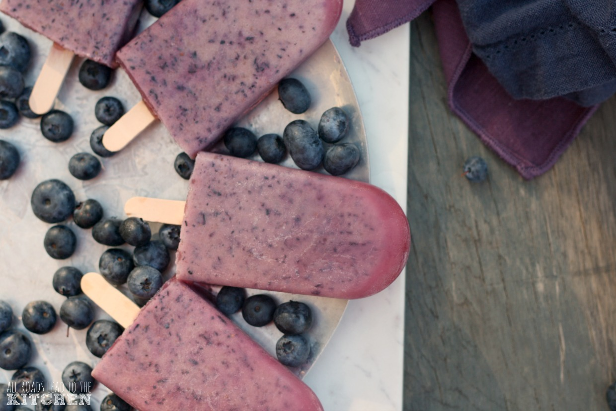 Blueberry Buttermilk Popsicles
