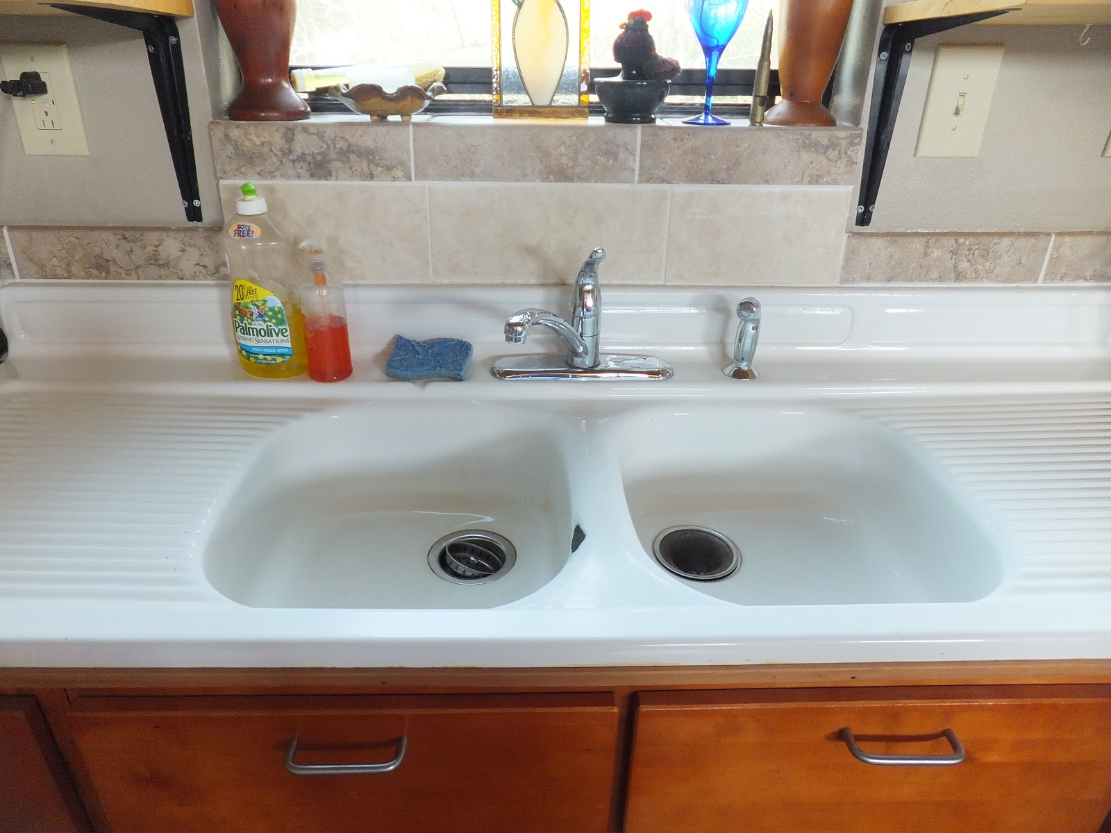 old kitchen sink with drainboard black chairs cheap kott in the garden importance of a good