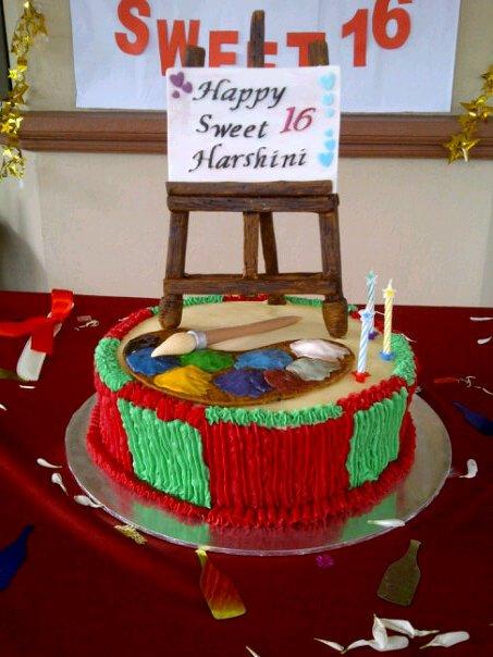 Cakes Cakes N More Artist Theme Cake Topper