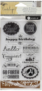 Hampton Art Stamp & Stencil Set, Occasions