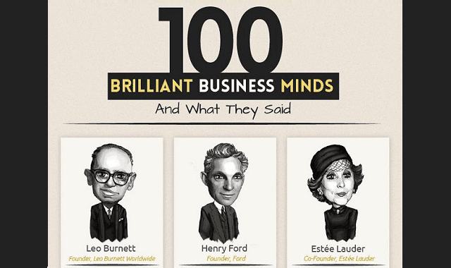 100 Brilliant Business Minds and What They Said
