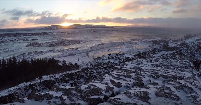 Beautiful landscape of Thingvellir national park
