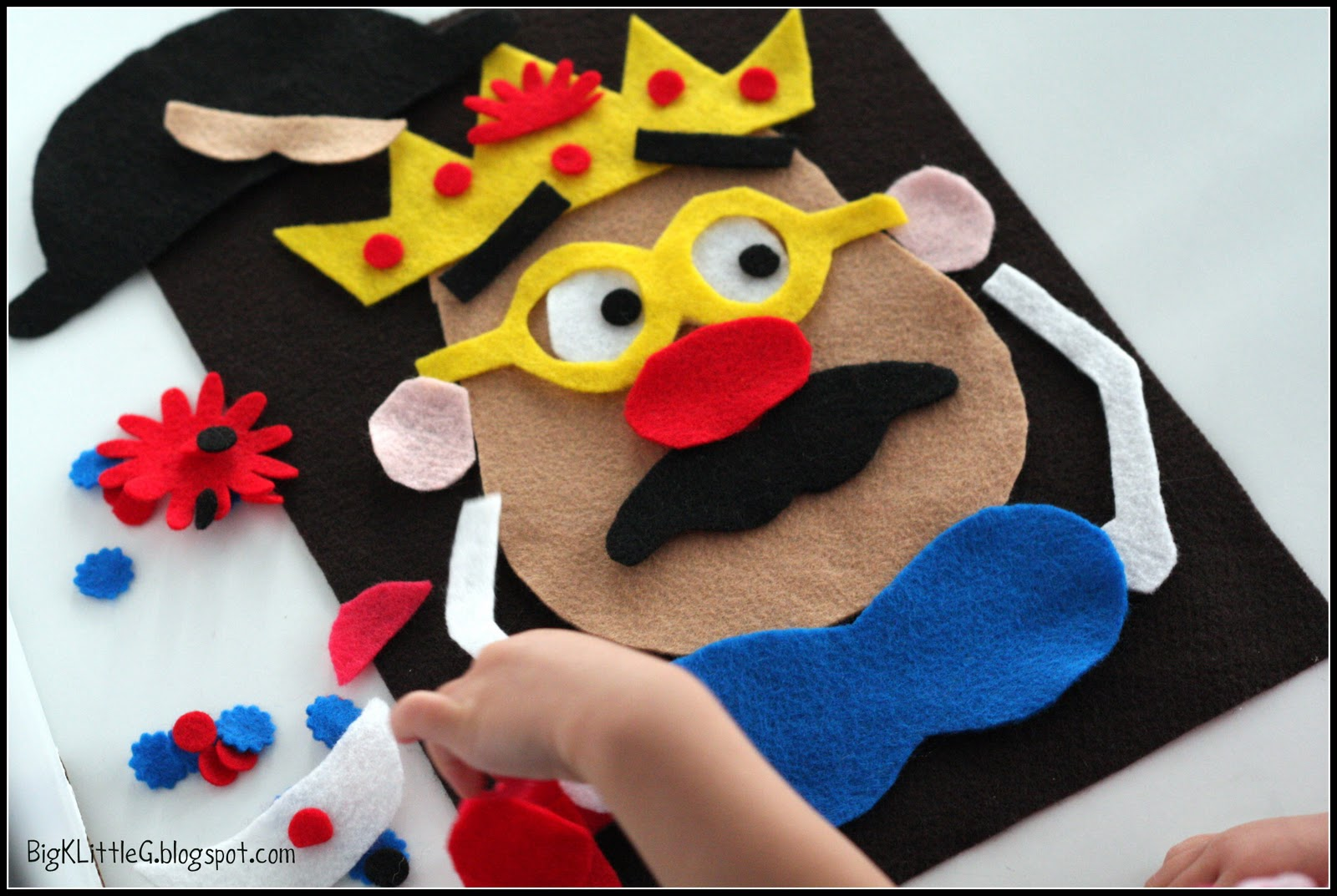 mr potato head felt template - big k little g diy felt tater head tutorial