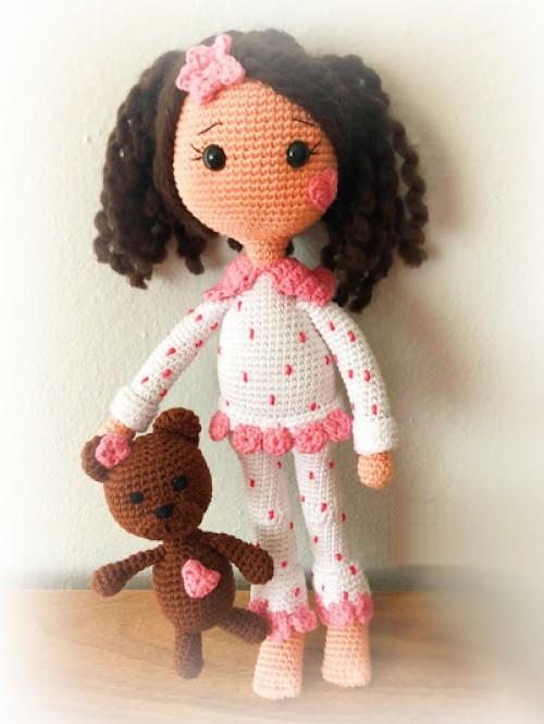 Amigurumi Pajamas Doll - Free Pattern