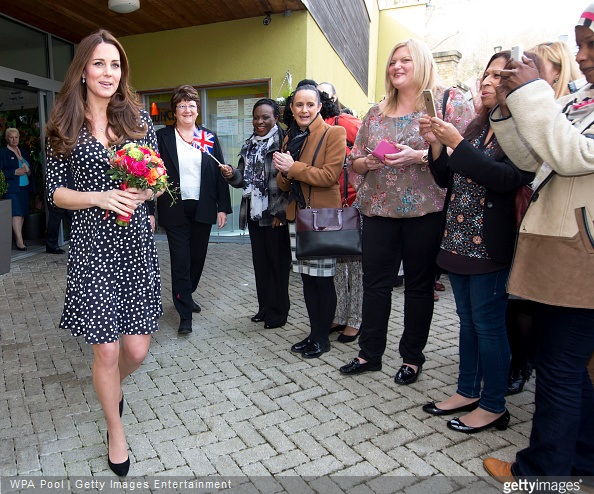 Catherine, Duchess of Cambridge visits the Brookhill Children's Centre in Woolwich to find out about the work of Home Start