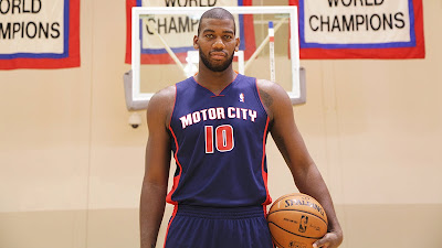 Greg Monroe Shows Off 'Motor City' Jersey